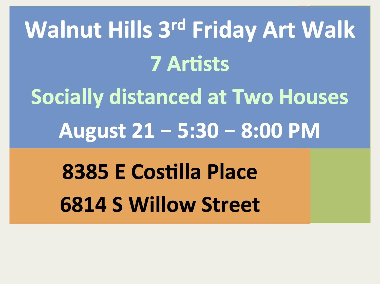 August 21 3rd Friday Art Walk
